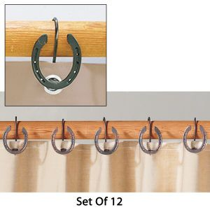 Rustic Horseshoe Shower Curtain Hooks - Horse Themed Gifts, Clothing, Jewelry & Accessories all for Horse Lovers