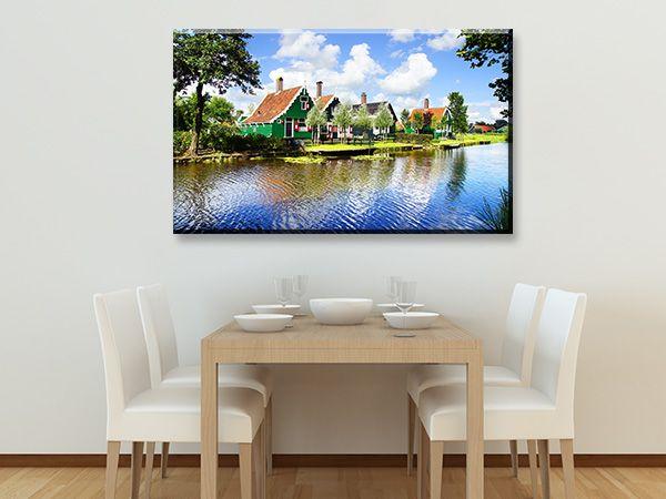 Διακόσμηση με Πίνακες σε καμβά #digiwall από την κατηγορία ΟΛΛΑΝΔΙΑ : Χαρακτηριστικά ολλανδικά σπίτια