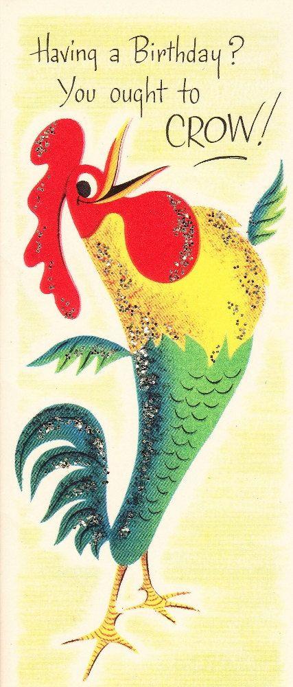 Vintage 1950s Birthday Cards UNUSED Sparkle by ilovevintagestuff