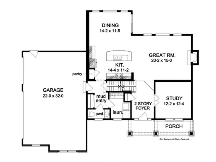 2 story with mud no formal dining home plans for Colonial house plans nz