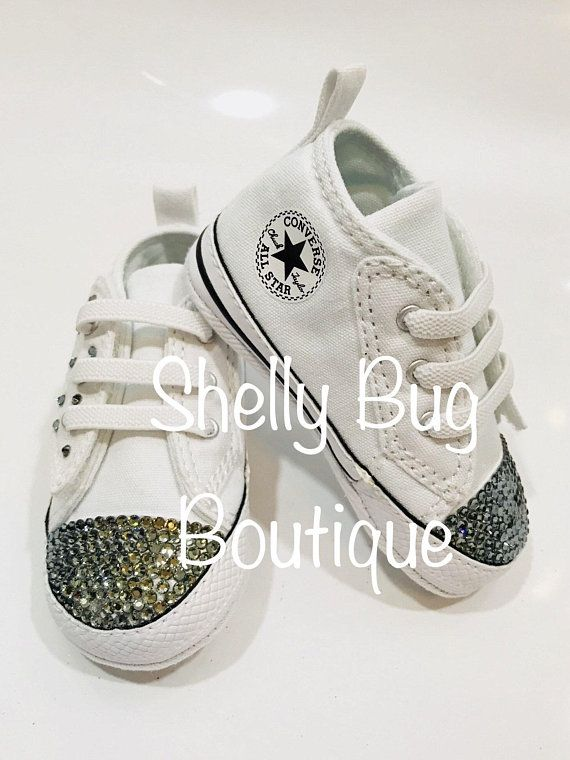 5fdcd4fa01c9 You Design Custom Swarovski Infant Converse Shoes