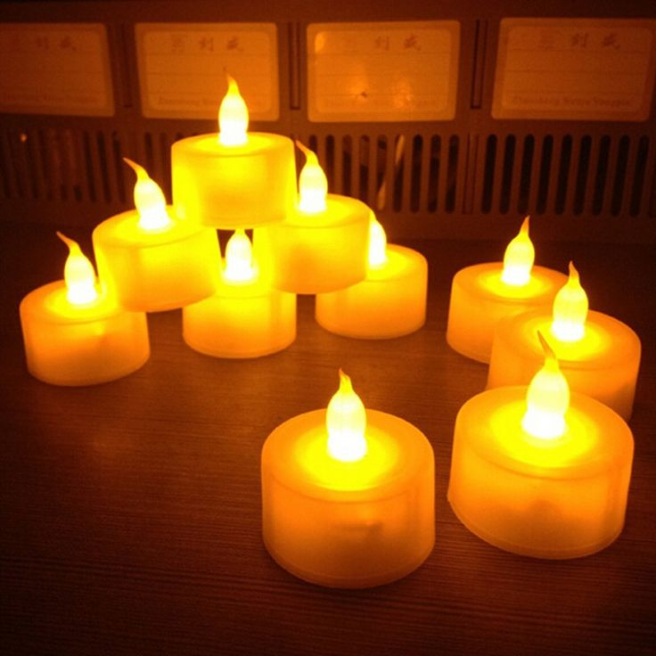 12 pcs/lot Flickering Flameless LED Tealight Flicker Tea Candle Light Xmas Party Wedding Lover Candles Safety Home Decoration