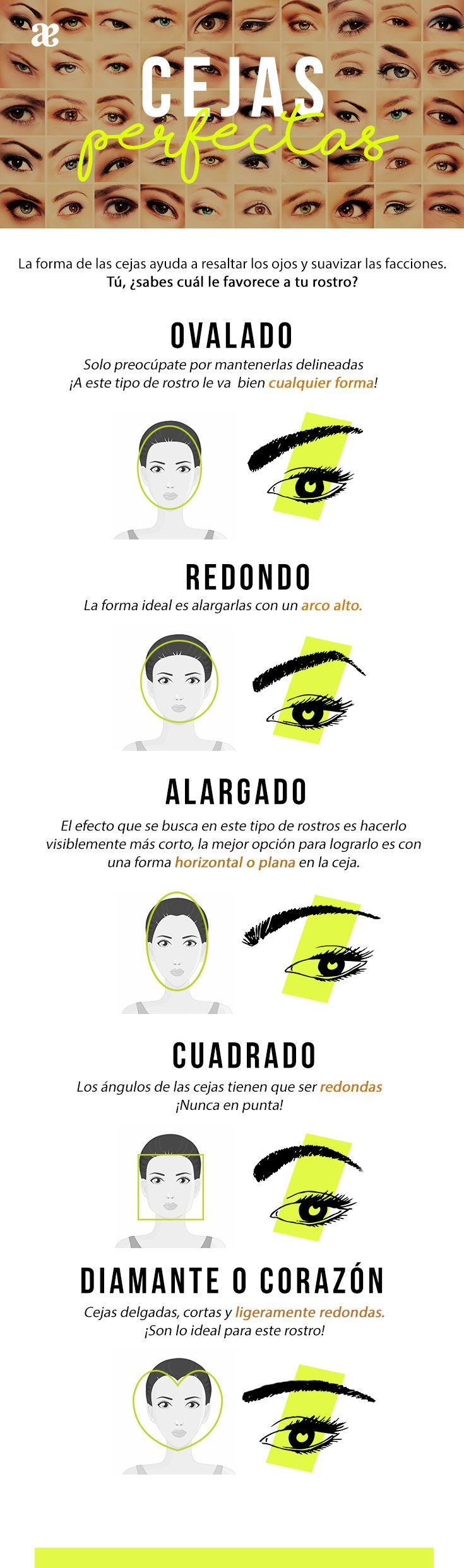 Descubre la tendencia para tus cejas ¿Le va bien a tu tipo de rostro? ★DOMENICA†