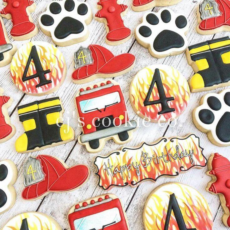 CJ'S Cookie Co.: Fireman theme birthday cookies