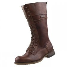 Nuevos zapatos Mustang Mujer Botas de forro abrigo caña alta