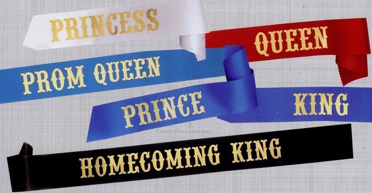 Sashes from High School Homecoming and Prom Courts