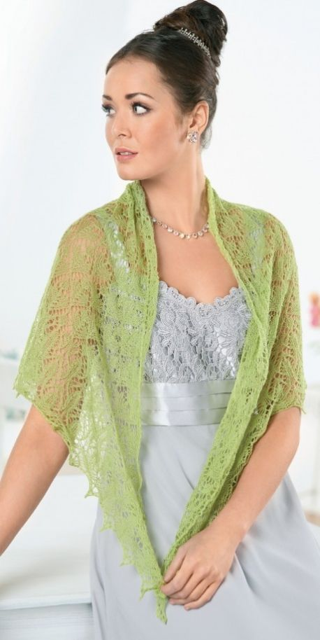 Lace shawl - free knitting pattern to download over the Let's Knit website!