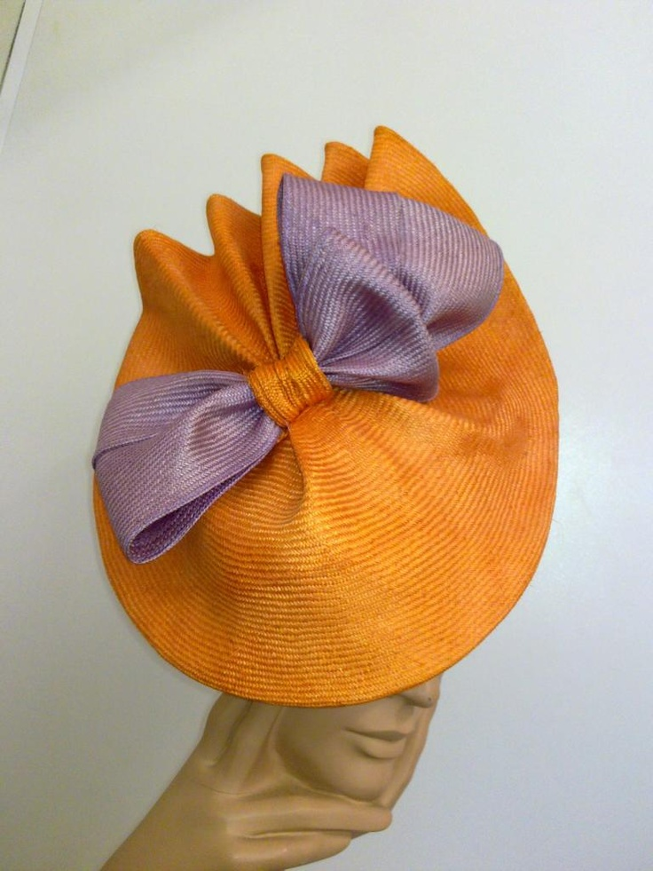 orange and purple hat in parasisal #millinery #judithm #hats