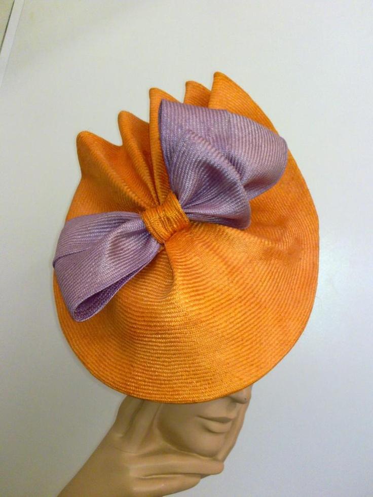 orange and purple hat in parasisal #millinery #judithm #hats