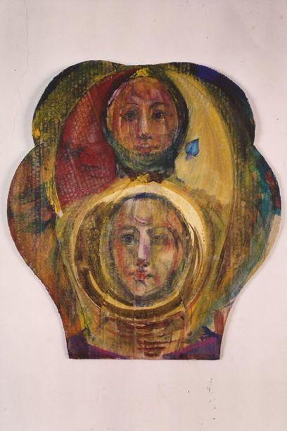 Bruno Ceccobelli, Figlio dei figli Tecnica mista su cartone, 43 x 47 cm