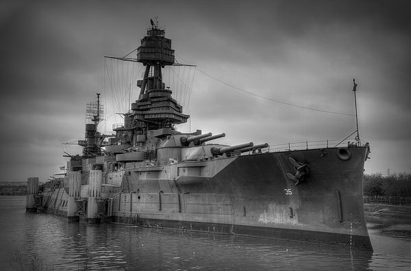 Vintage USS Texas by Michael Morse