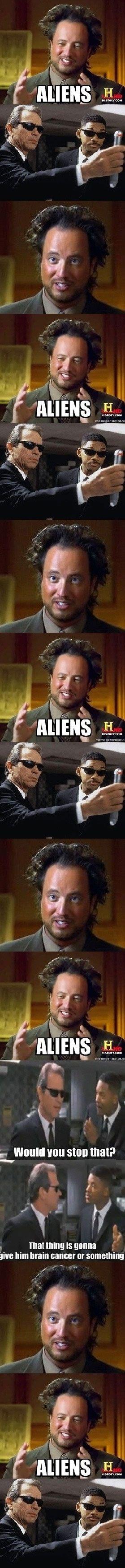 MIB meets the Aliens Guy
