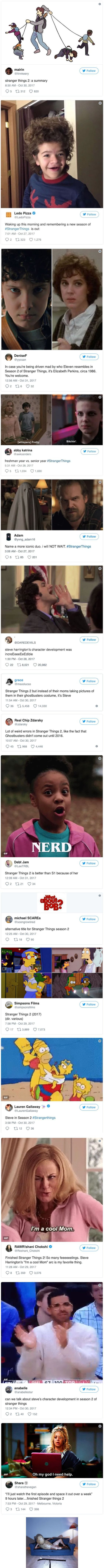 People's reactions to Stranger Things 2
