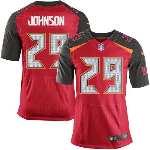 fc1f49139 ... Leonard Johnson Mens Elite Red Jersey Nike NFL Tampa Bay Buccaneers  Home 29 ...