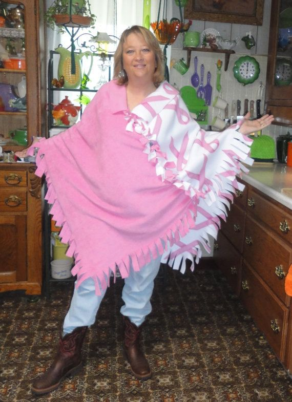 Fringed Long Tied Pink Breast Cancer Print by PaisleyPurveyorToo, $35.00
