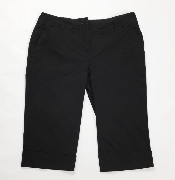 Marella shorts donna w32 46 nero vita bassa usati estivi pantalone corto T1490