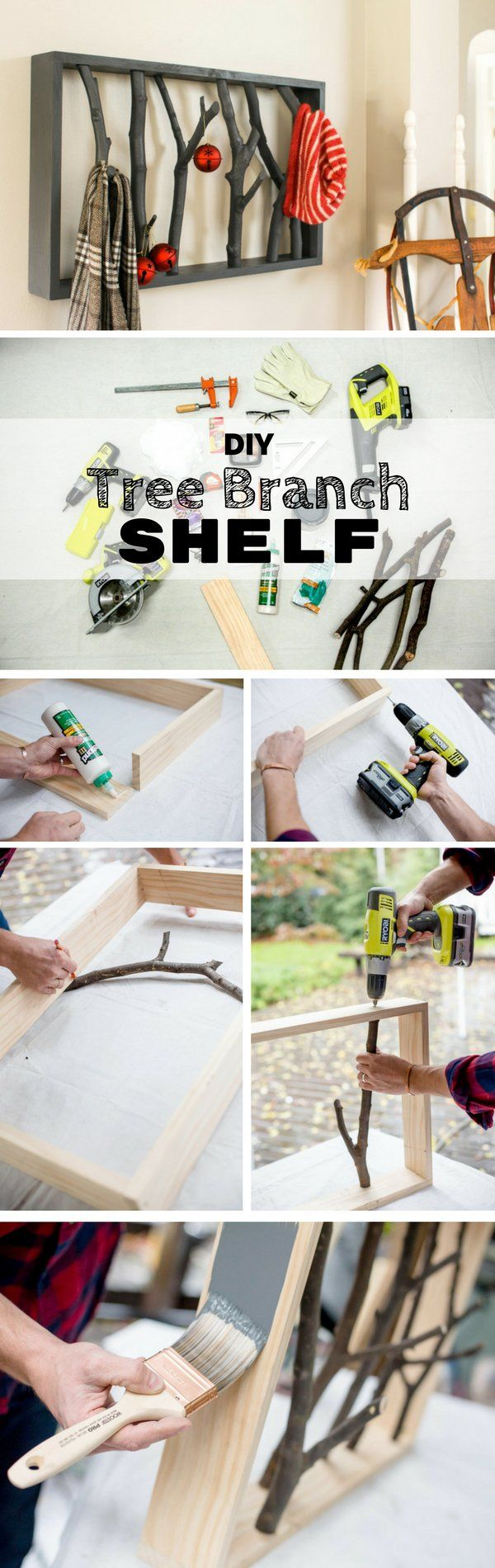 Check out the tutorial: #DIY Tree Branch Shelf @istandarddesign