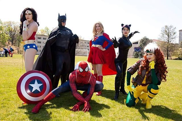#tbt to another pic with the charity group that I volunteer for, @dc__heroes (DC stands for Washington DC, not DC Comics). Also #tbt to the sun. Like, where is it? It's been gone all month. I guess this is what living in Seattle is like, only with worse traffic. #spiderman #wonderwoman #batman #supergirl #rogue #cosplay #cosplayer #causeplay #throwbackthursday