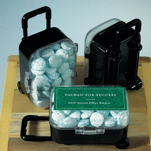 Travel Themed Party Centerpieces | Mini Travel Trolley Wedding / Party Favor - other items and stickers ...