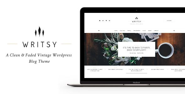 Writsy - A Clean & Faded Vintage WordPress Blog Theme. Full view: https://themeforest.net/item/writsy-a-clean-faded-vintage-wordpress-blog-theme/16106738?ref=thanhdesign