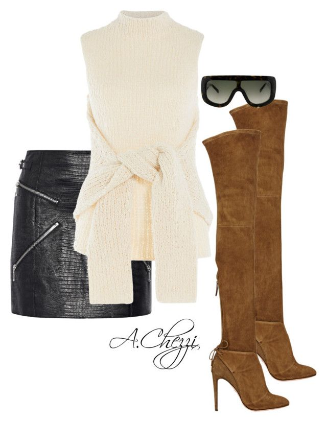 """Untitled #236"" by alyssachezzi on Polyvore featuring Aquazzura, Alexander Wang and CÉLINE"