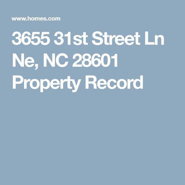 3655 31st Street Ln Ne, NC 28601 Property Record