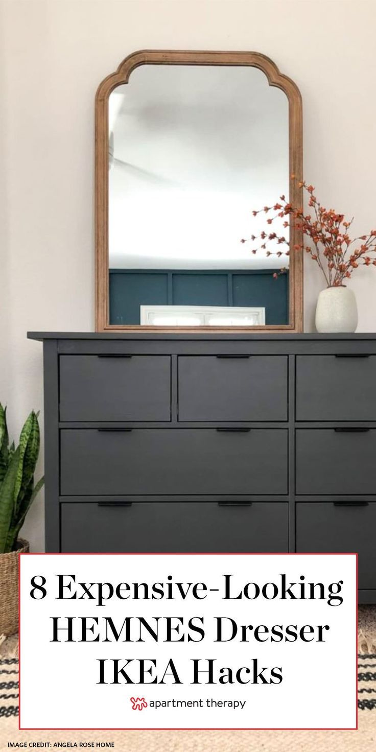 8 Fab Ikea Hacks To Make Your Hemnes Dresser Look Like A Designer Find In 2020 Ikea Inspiration Painting Ikea Furniture Ikea Furniture