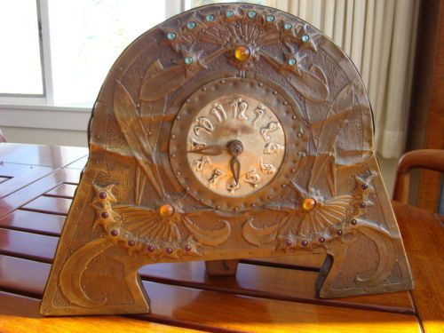 ARTS-amp-CRAFTS-MANTEL-CLOCK-SCANDINAVIAN-CA-1905