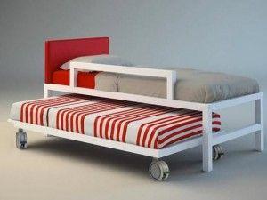 camas nido ruedas gris rojo 300x225 Las diez mejores fotos de camas nido en decoración v 3.0