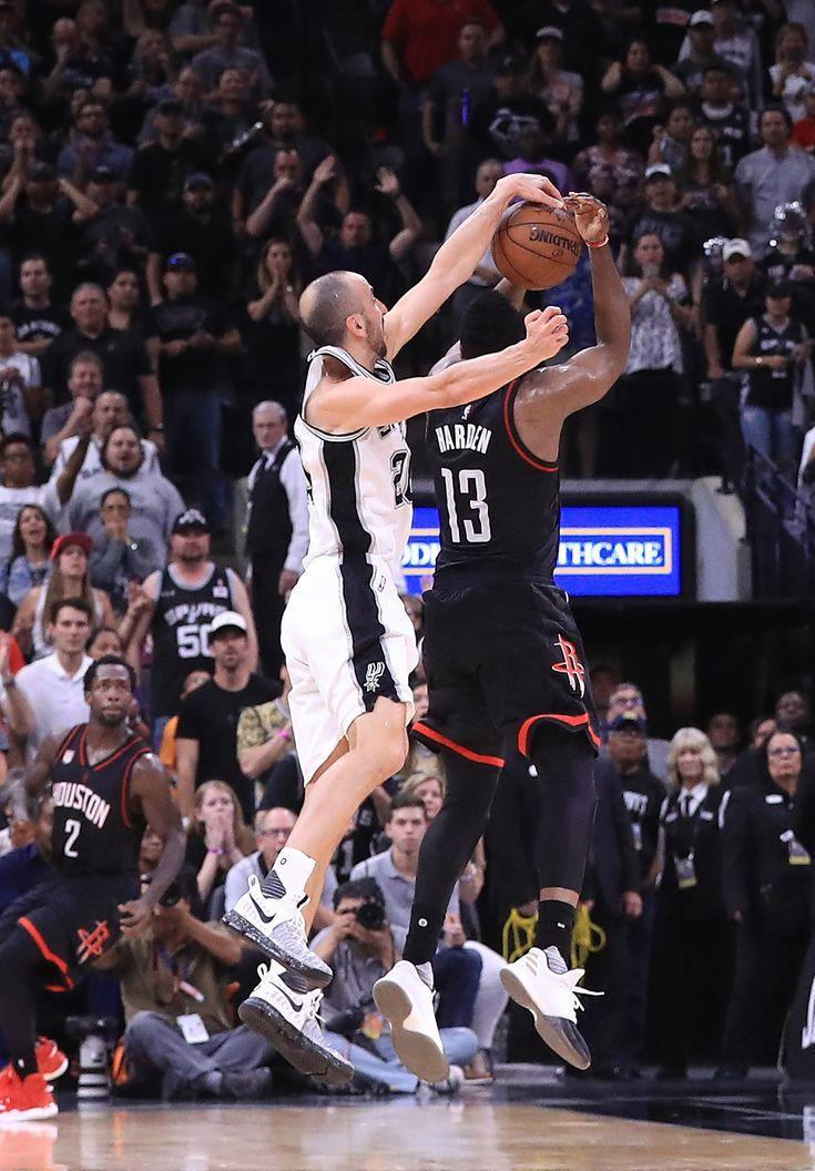 La jugada del 2017 de Ginóbili: impactante tapa a James Harden, por los playoffs de la NBA