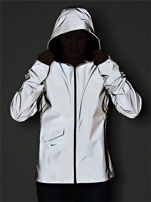 nike vapor flash 100% reflective and waterproof running jacket. I have this jacket, it's AWESOME!