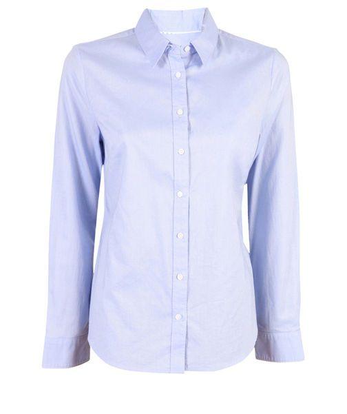 Sarah Oxford Shirt, POWDER BLUE, hi-res