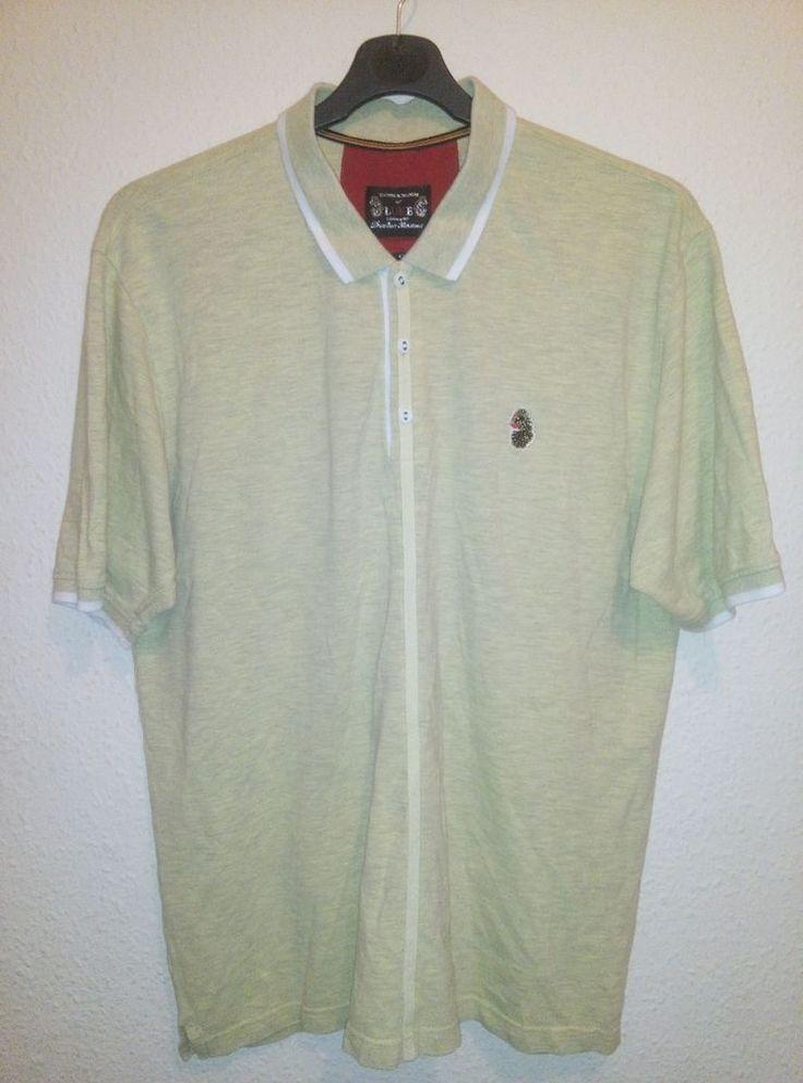 United Kingdom of Luke 1977 Casual Short Sleeved Polo T Shirt Soft Yellow XL