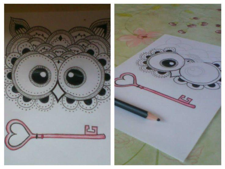 baglyos füzetborító ♥ owls love