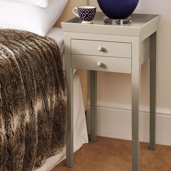 Gustavian Bedside Table Dove Grey With Images Luxury Bedside