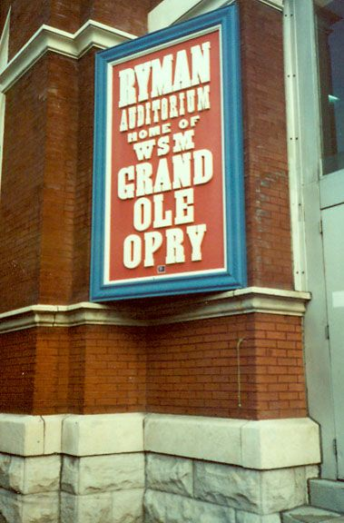 Ryman Auditorium former home of the Grand Ole Opry in downtown Nashville, TN.