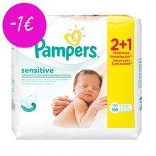 Μωρομάντηλα Pampers Sensitive 2+1 Δώρο