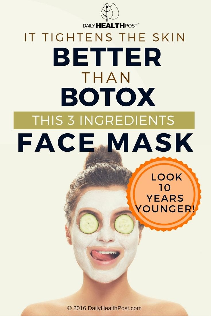 It Tightens The Skin Better Than Botox: This 3 Ingredients Face Mask Will Make You Look 10 Years Younger via @dailyhealthpost