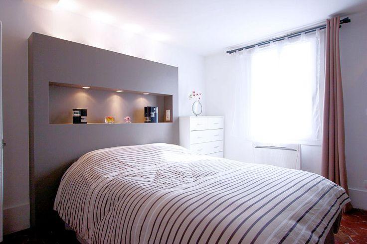 1346665 une tete de lit avec niche 800 533 bedroom etc pinterest. Black Bedroom Furniture Sets. Home Design Ideas