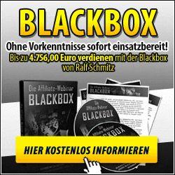 Wie du mit der Blackbox bis zu 4.756,00 Euro und mehr im Monat verdienst, während das Heer der erfolglosen Internetmarketer sich im Kreis dreht und nur noch deine Schlusslichter sieht. Ohne Vorkenntnisse sofort einsatzbereit!........read more http://www.top-onlinebusiness.com/Konzepte-Geschaeftsideen/blackbox.html