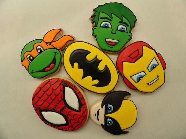 SUPER HERO COOKIES! by Adda Boys Cookies, via Flickr