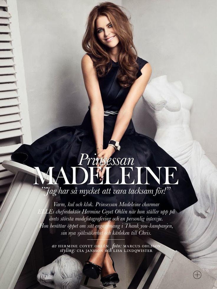 Photoshoot de la princesse Madeleine pour le ELLE suédois