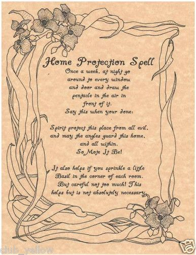 Home Protection Spell Page Parchment for Book of Shadows BOS Pages Witchcraft | eBay