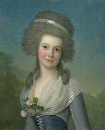 Mademoiselle Susan Johnston - Adolf Wertmuller, vers 1789, Musée des Beaux Arts de Bordeaux