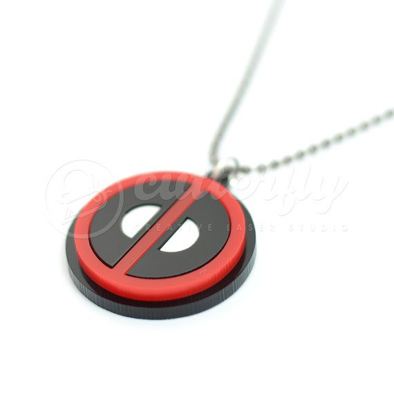 Deadpool Emblem Necklace by CutterflyStudio on Etsy