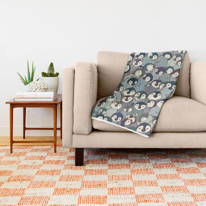 Baby Penguin Pattern Throw Blanket