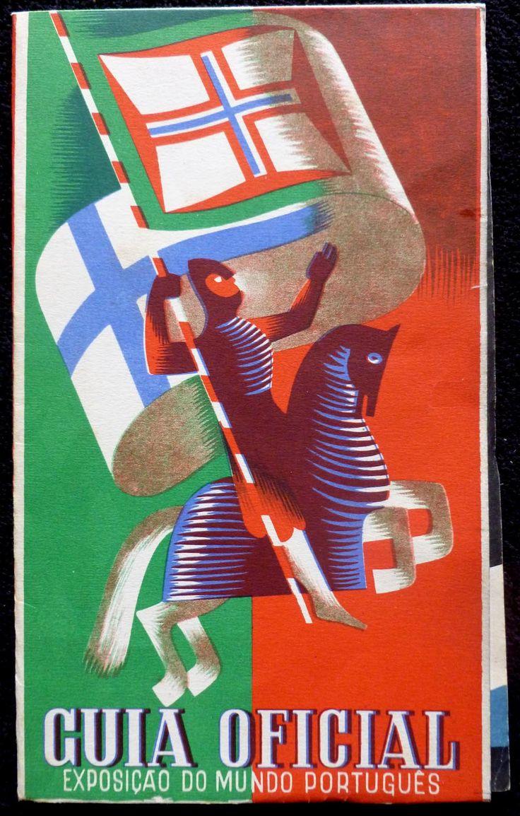 Poster design 1940 - Exposi O Do Mundo Portugu S Exibition Of The Portuguese World Of 1940 Official Guide