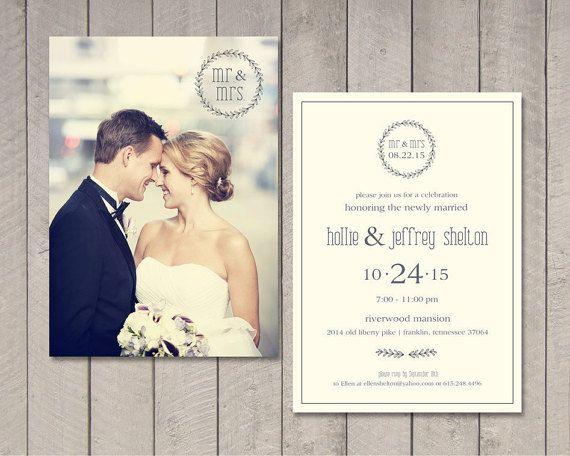 Moderne Rezeption Hochzeitseinladung von vintagesweetdesign auf Etsy