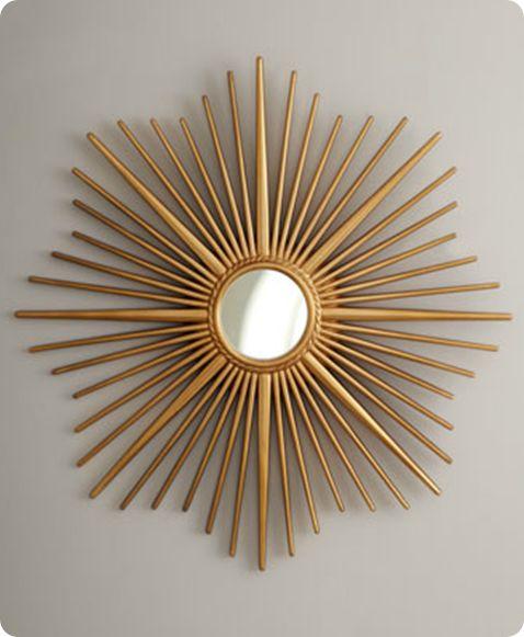 Horchow sprazzo di sole specchio d'oro