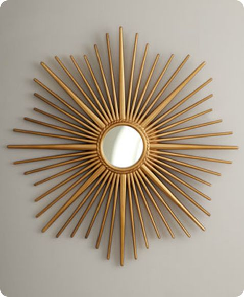 Paper Mache Starburst Mirror